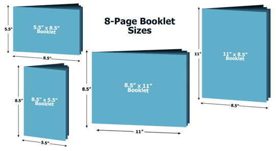 8-Page Booklet Sizes