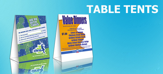 5,000 Table Tents Starting At $749